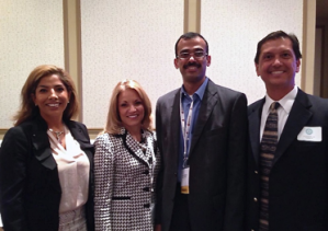 Newly Elected 2015-2016 Board Members: Marysol Imler, Maureen Fuhrmann, Surya Desiraju and Michael Sarabia, MD. Board Members Not Pictured: Abe Longoria, MD, Rob Morris, John McGee and Past President Swapan Dubey, MD.